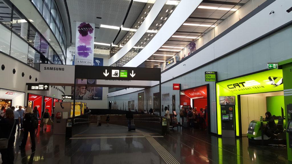 как добраться из аэропорта к центральному вокзалу Вены